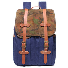 Pockets Canvas & Leather Backpack LH1880_4 Colors