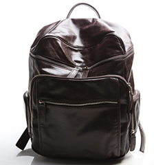 Zippered pockets Leather Backpack LH1874_2 Colors