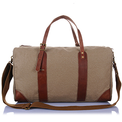 Capacity Canvas & Leather Luggage Bag LH1912_4 Colors