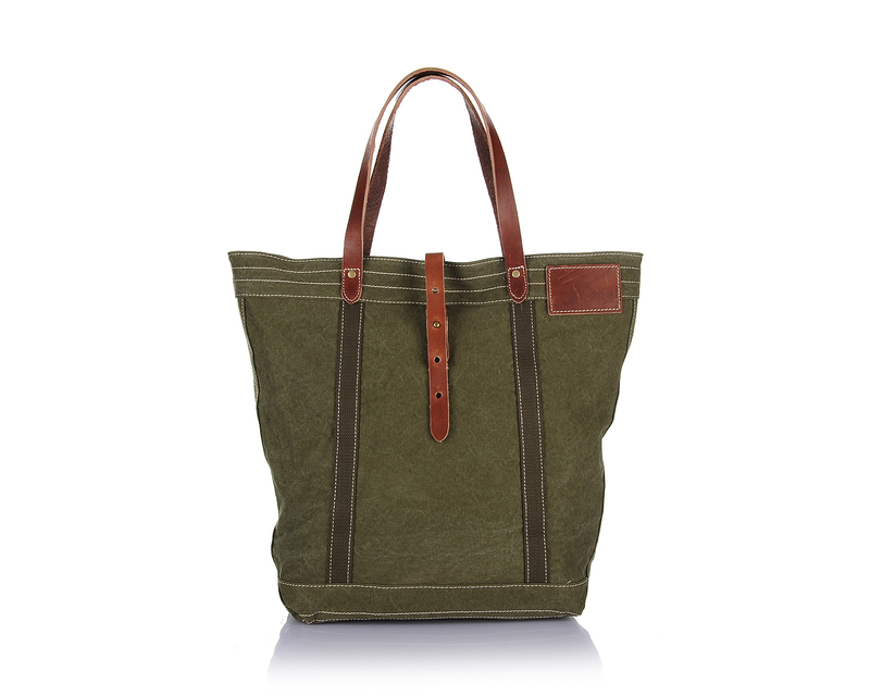 Vintage Canvas & Leather Handbag LH1890_3 Colors