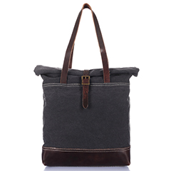 Casual Canvas & Leather Handbag LH1891_3 Colors