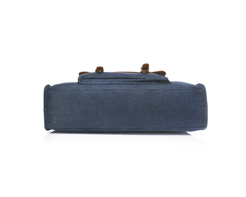 Casual Canvas & Leather Laptop Bag LH1899_3 Colors
