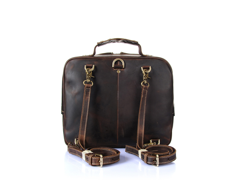 3 Ways Wearing Leather Satchel Bag LH1905