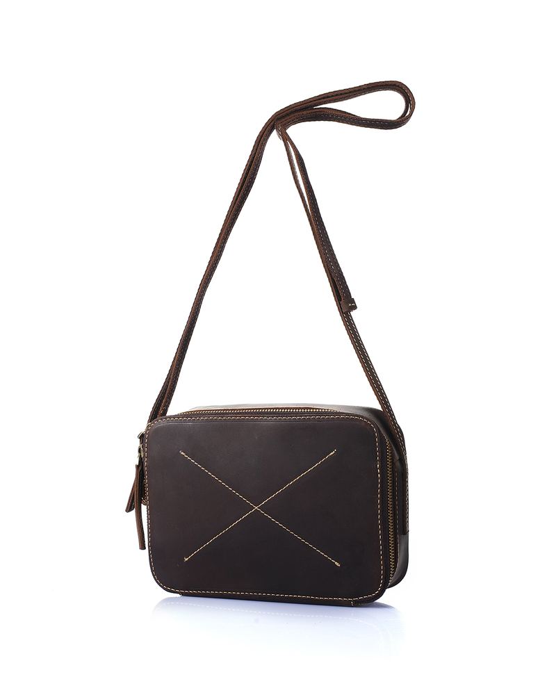 Large Capacity Leather Cross Body Bag LH1907