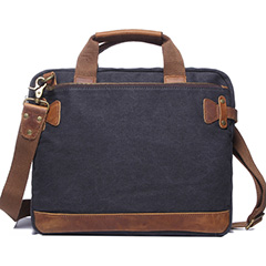 Practical Canvas & Leather Laptop Bag LH1884_4 Colors