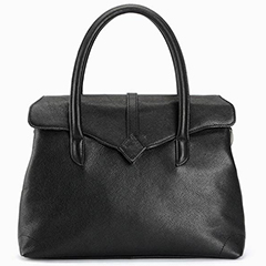 Practical Flap Over Real Leather Tote LH1938_3 Colors