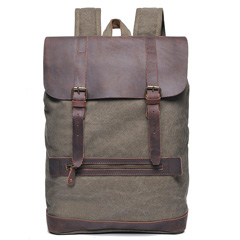Water Canvas & Leather Backpack LH1947_4 Colors
