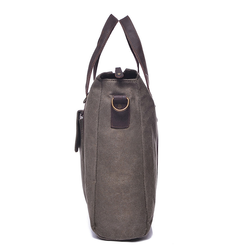 Water Canvas & Leather Shoulder Bag LH1948_4 Colors