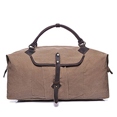 Water Canvas & Leather Travelling Bag LH1951_3 Colors