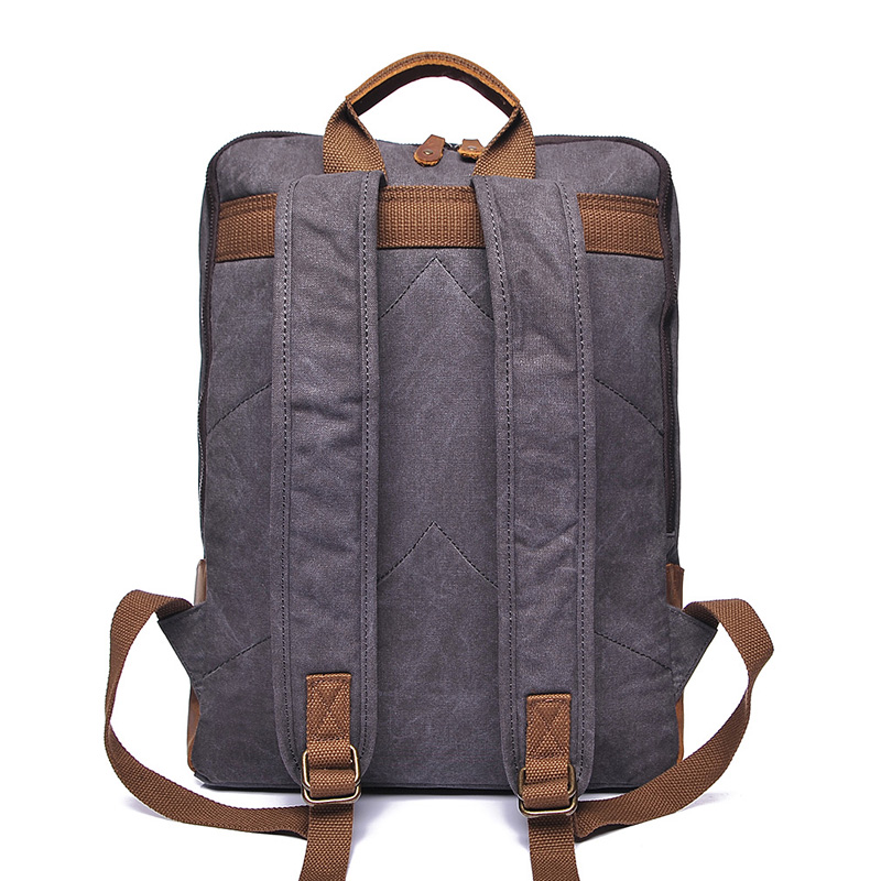 Water Canvas & Leather Backpack LH1954_4 Colors
