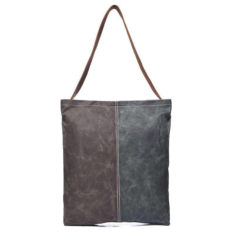 Water Canvas & Leather Shoulder Bag LH1957