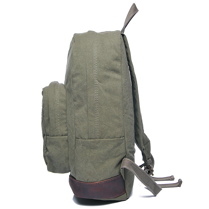 Water Canvas & Leather Backpack LH1956_3 Colors