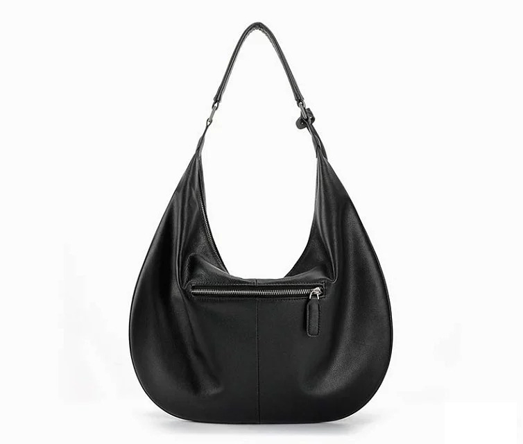Black Classic Supple Genuine Leather Hobo LH2007_3 Colors