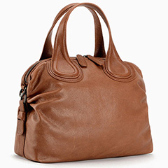 Brown Capacity Leather Tote Top Handle Bag LH1848
