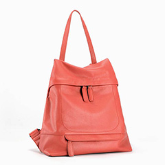 Watermelon Red Casual Genuine Leather Backpack LH2006