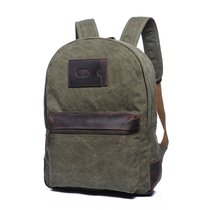 Canvas & Leather Backpack LH1777B_4 Colors