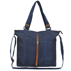 Canvas & Leather Shoulder Bag LH2052_2 Colors