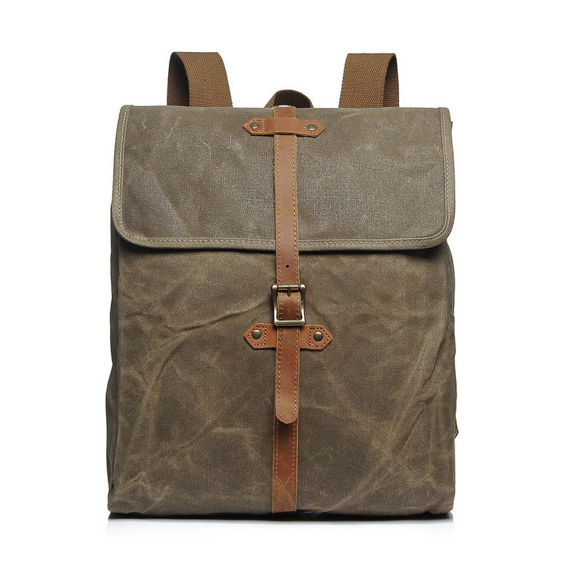 Canvas & Leather Backpack LH2053_3 Colors