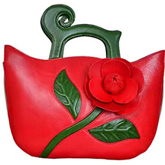 Flower Pattern Genuine Leather Purse LH2069_4 Colors