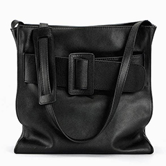Buckle Real Leather Shoulder Bag LH2094