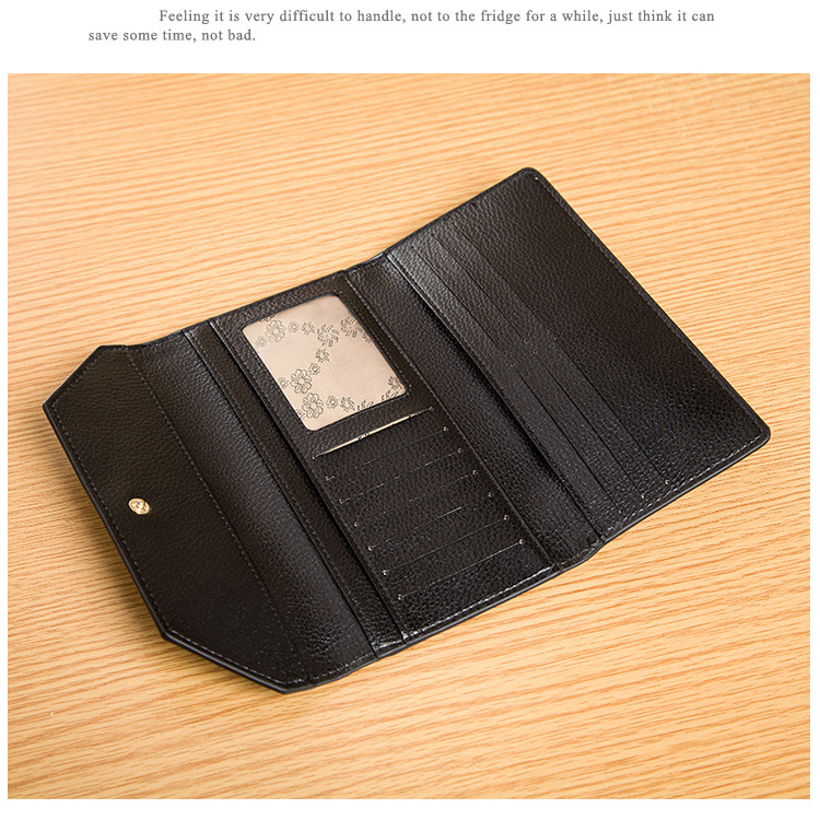 Lady Leather Wallet Purse LH2105_3 Colors