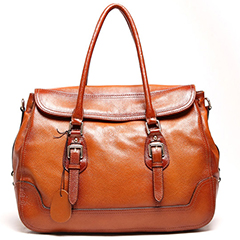 Talieh Brown Leather Tote LH9903