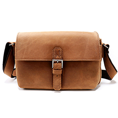 Push Lock Genuine Leather Messenger Bag LH2151