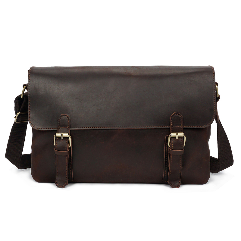 Crazy Horse Pull Up Leather Laptop Bag LH2176