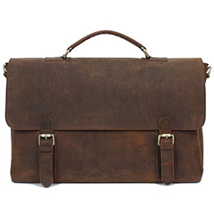 Crazy Horse Pull Up Leather Laptop Bag LH2177
