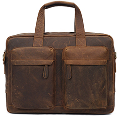 Gritty Rustic leather Briefcase LH2180_2 Colors