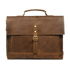 Hunter Leather Pull Up Leather Briefcase LH2181_2 Colors