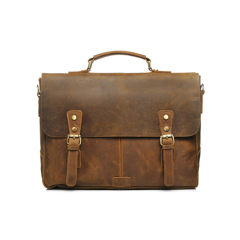 Crazy Horse Pull Up Leather Briefcase LH2182