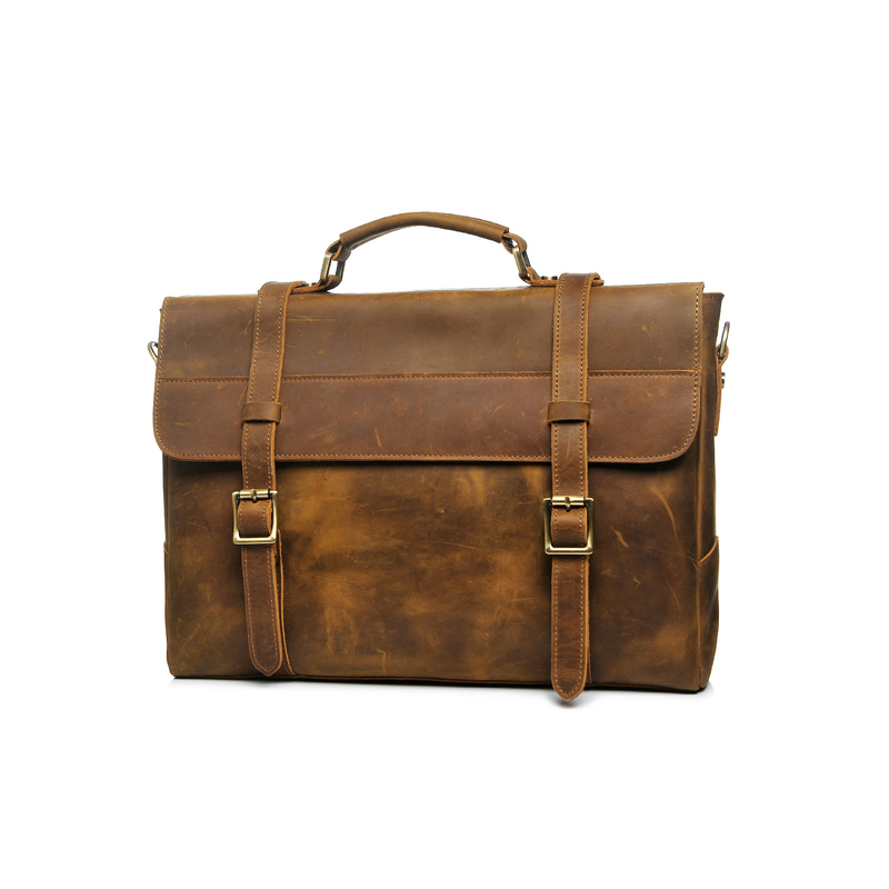 Crazy Horse Pull Up Leather Briefcase LH2183