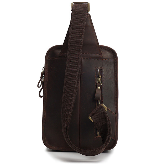 Crazy Horse Pull Up Leather Chest Bag LH2186_2 Colors