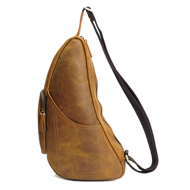 Pull Up Leather Chest Bag Sling Bag LH2189_2 Colors