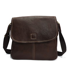Crazy Horse Pull Up Leather Messenger Bag LH2191_2 Colors