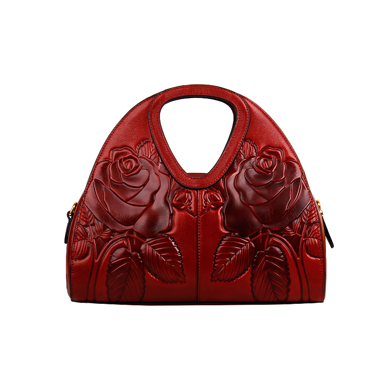 Floral Pattern Leather Handbag LH2193C_4 Colors