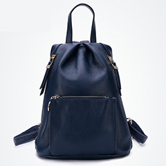 Pockets Genuine Leather Backpack LH2203