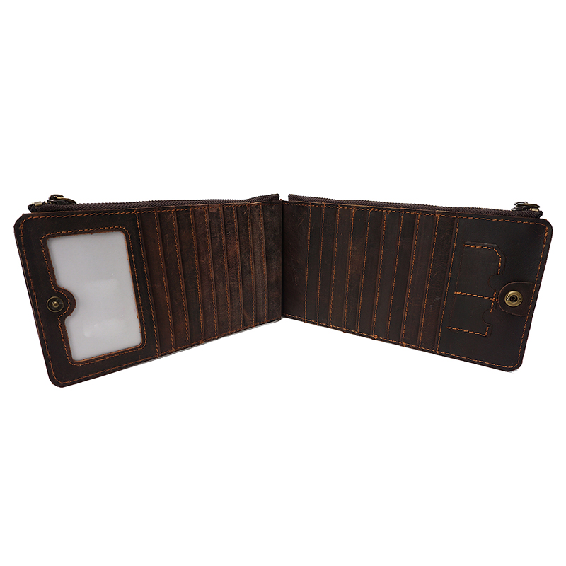 Crazy Horse Pull Up Leather Card Holder LH2211