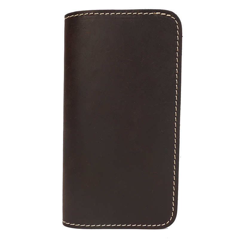 Bi-fold Crazy Horse Pull Up Leather Wallet LH2214_4 Colors