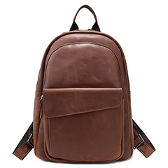 Mens Pockets Distress Leather Backpack LH2317