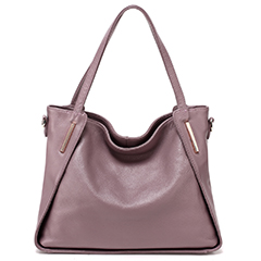 Purple Soft Genuine Leather Shoulder Bag LH2323
