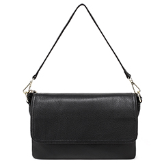 Black Muti-Pockets Genuine Leather Purse LH2325
