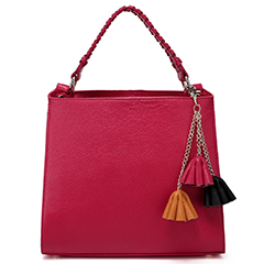 Rose Red Flower Cow Leather Tote Bag LH2322