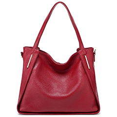 Red Soft Genuine Leather Shoulder Bag LH2323