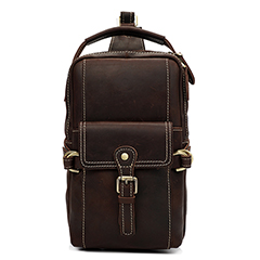 Muti-Pockets Real Leather Chest Bag LH2334_2 Colors