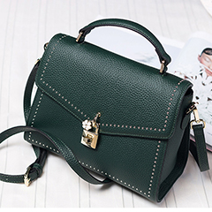 Flap Lock Real Leather Purse LH2363_ 8 Colors