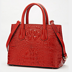 Stylish Crocodile Embossed Real Leather Handbag LH2452A_5 Colors