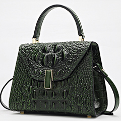 Crocodile Embossed Real Leather Tote Bag LH2450S_4 Colors