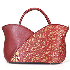 Eastern Mask Leather Tote Bag LH2446_2 Colors